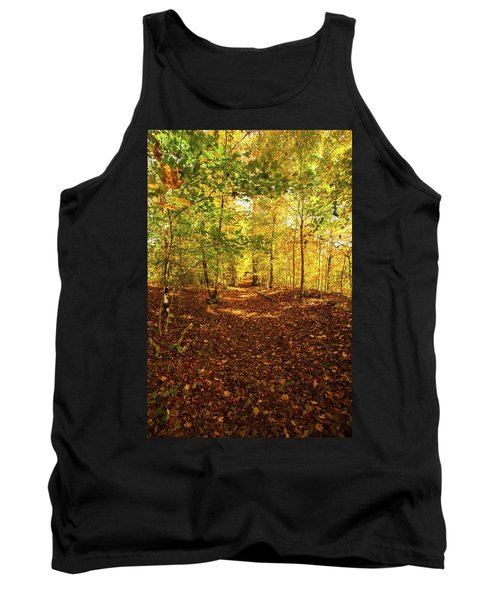 Autumn Leaves Pathway  Tank Top by Jerry Cowart