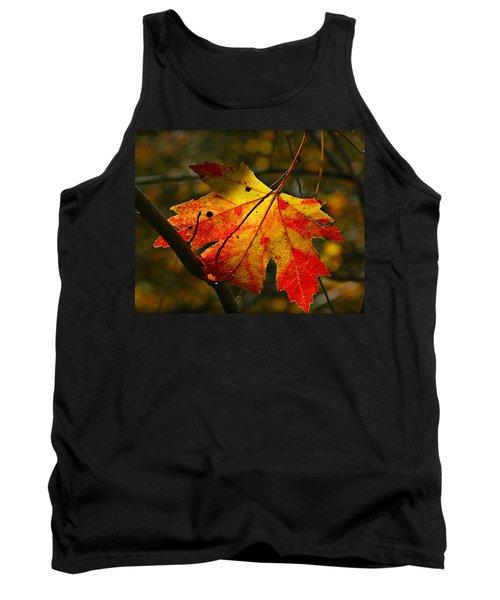 Autumn Maple Leaf Tank Top by Richard Engelbrecht