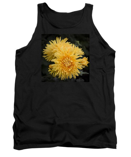 Autumn Mums Tank Top by Julie Palencia