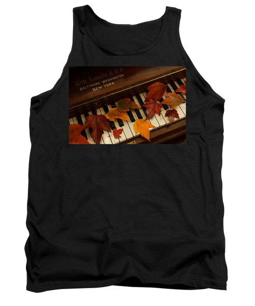Autumn Piano 14 Tank Top by Mick Anderson