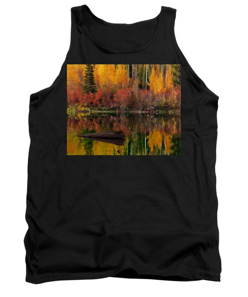 Autumn Reflections Tank Top by Leland D Howard