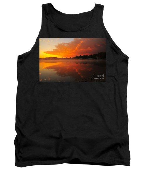 Autumn Sunrise At Stoneledge Lake Tank Top by Terri Gostola