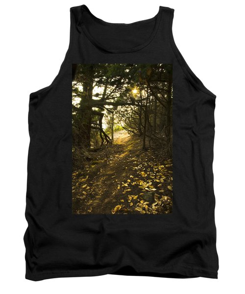 Autumn Trail In Woods Tank Top