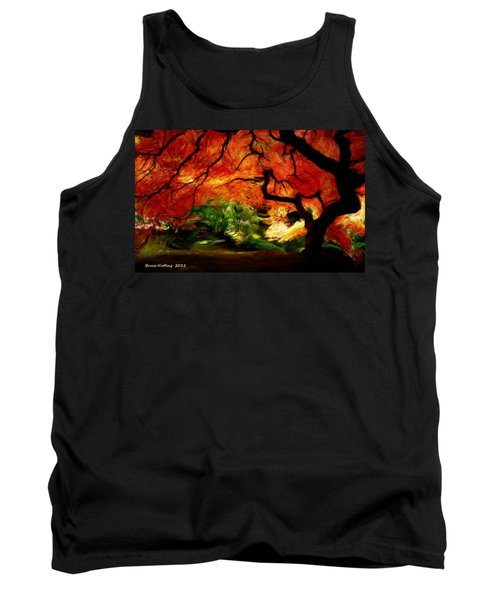 Tank Top featuring the painting Autumn Tree by Bruce Nutting