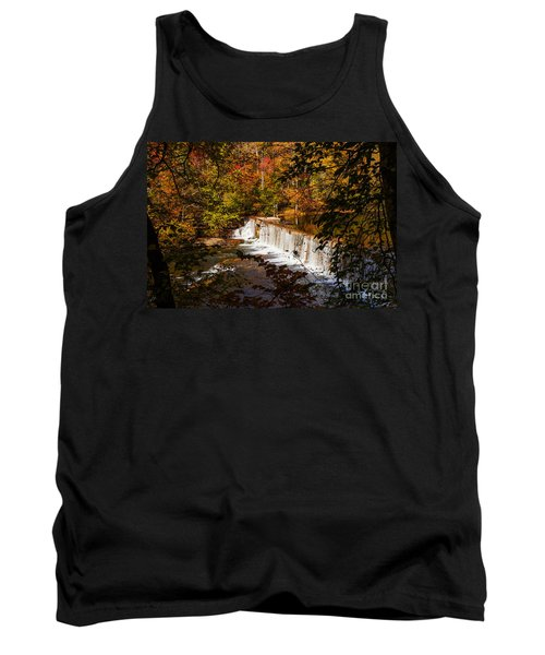 Autumn Trees On Duck River Tank Top by Jerry Cowart