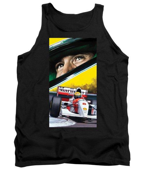 Ayrton Senna Artwork Tank Top