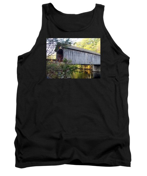 Babbs Covered Bridge In Maine Tank Top