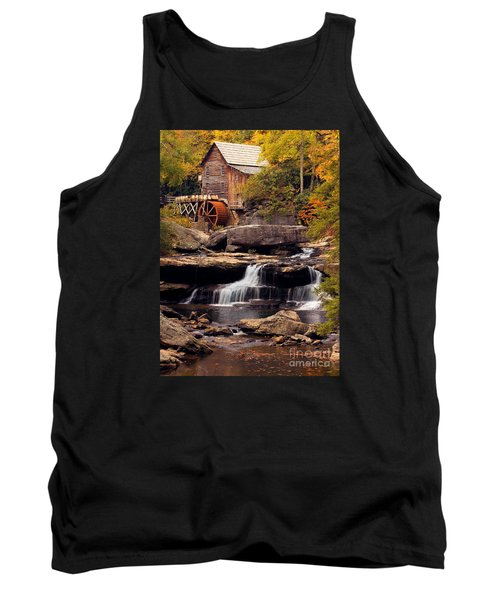 Tank Top featuring the photograph Babcock Grist Mill And Falls by Jerry Fornarotto