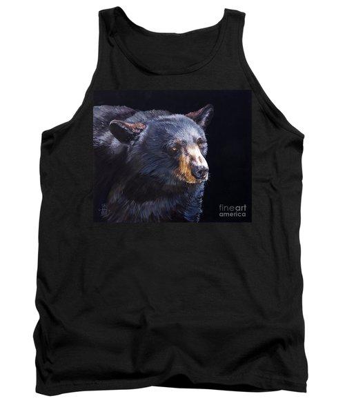 Back In Black Bear Tank Top by J W Baker