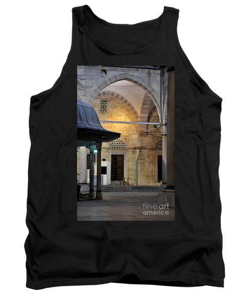 Tank Top featuring the photograph Back Lit Interior Of Mosque  by Imran Ahmed