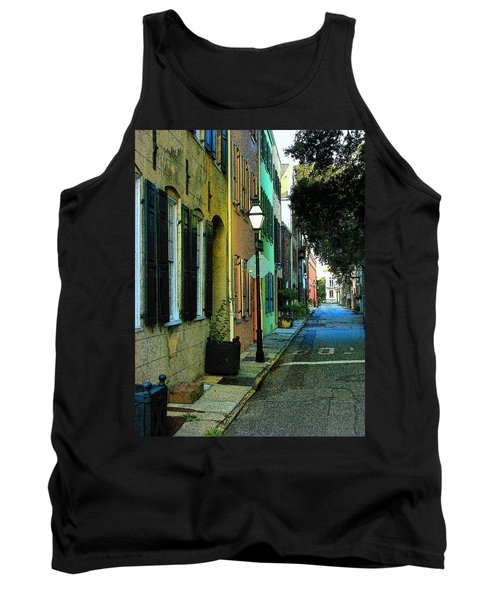 Tank Top featuring the photograph Back Street In Charleston by Rodney Lee Williams