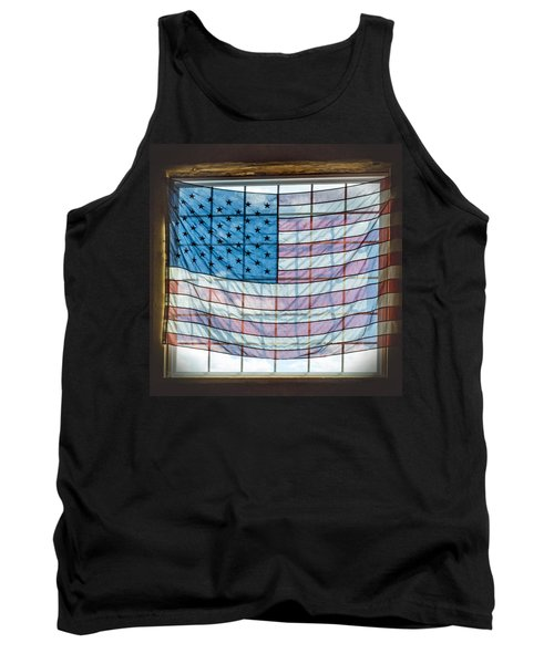 Backlit American Flag Tank Top by Photographic Arts And Design Studio