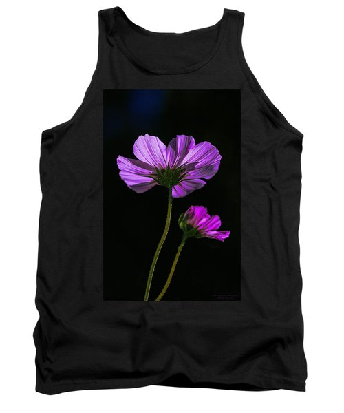 Backlit Blossoms Tank Top by Marty Saccone
