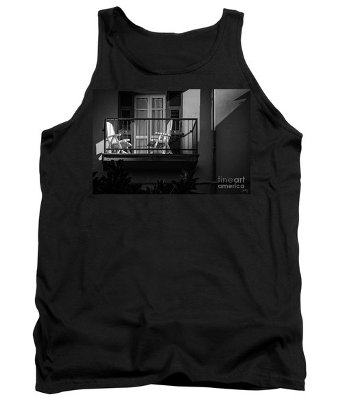 Balcony Bathed In Sunlight Tank Top