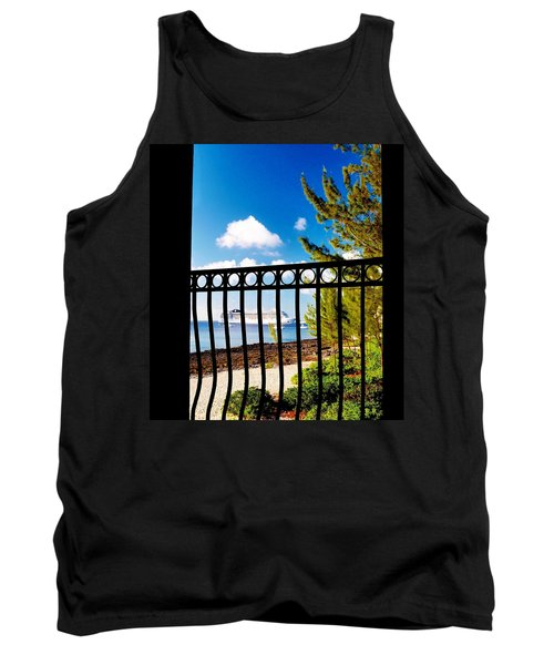 Tank Top featuring the photograph Balcony Scene by Amar Sheow