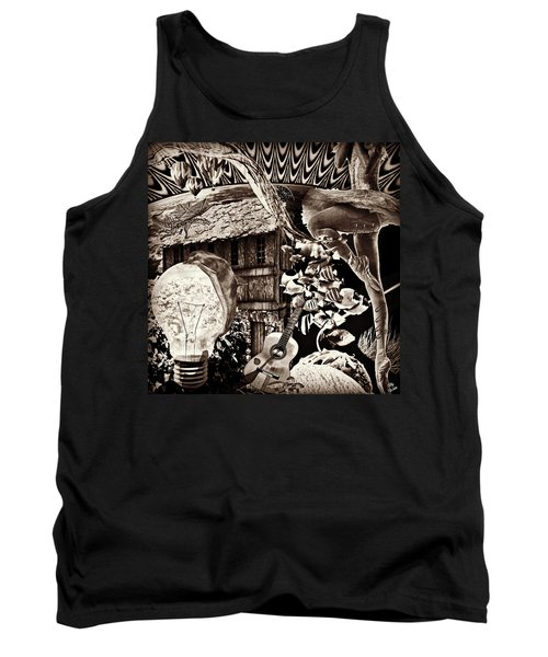 Tank Top featuring the mixed media Ballerina Dreams by Ally  White