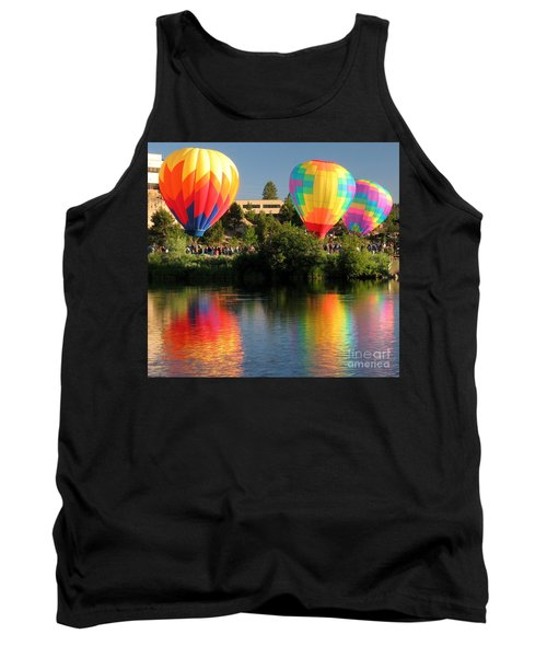 Tank Top featuring the photograph Balloons Over Bend Oregon by Kevin Desrosiers