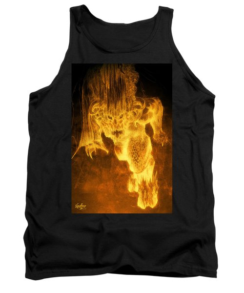 Tank Top featuring the mixed media Balrog Of Morgoth by Curtiss Shaffer