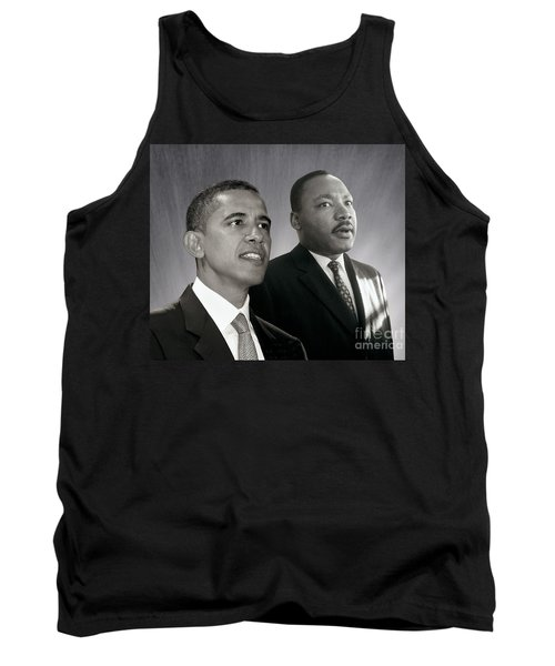 Tank Top featuring the photograph Barack Obama  M L King  by Martin Konopacki Restoration