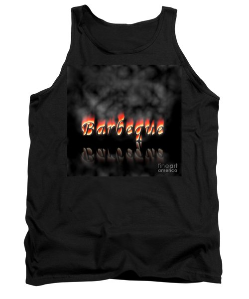 Barbeque Text On Fire Tank Top