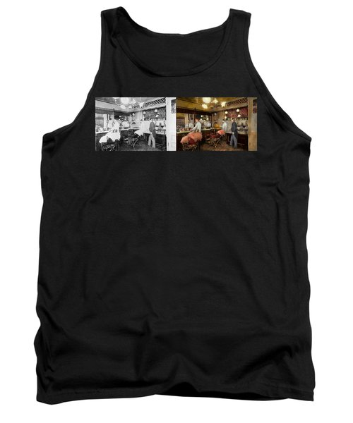 Barber - L.c. Wiseman Barbershop Ny 1895 - Side By Side Tank Top