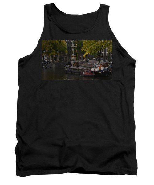 barges in Amsterdam Tank Top