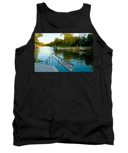 Barton Springs Pool In Austin Texas Tank Top