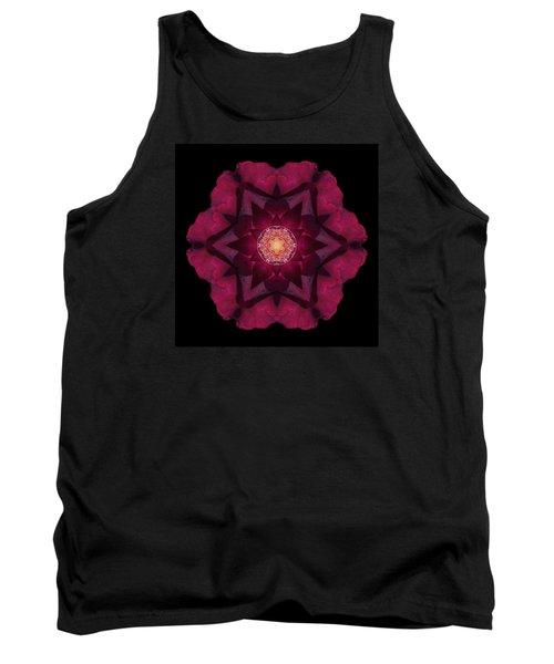 Tank Top featuring the photograph Beach Rose I Flower Mandala by David J Bookbinder
