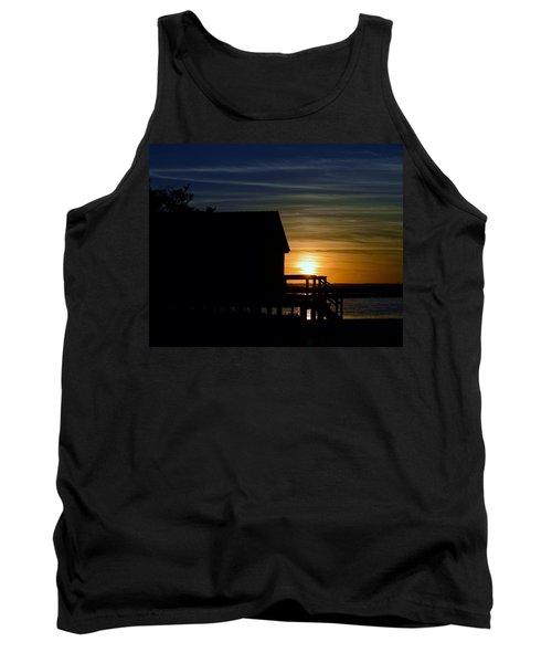 Beach Shack Silhouette Tank Top