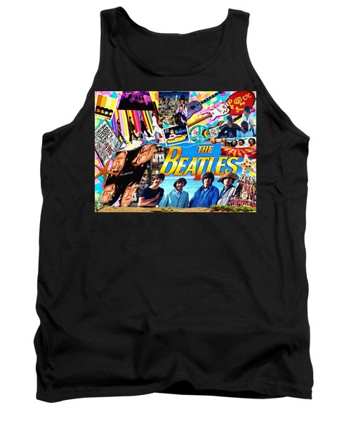 Beatles For Summer Tank Top by Mo T