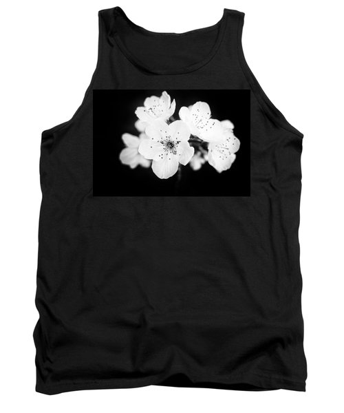 Beautiful Blossoms In Black And White Tank Top