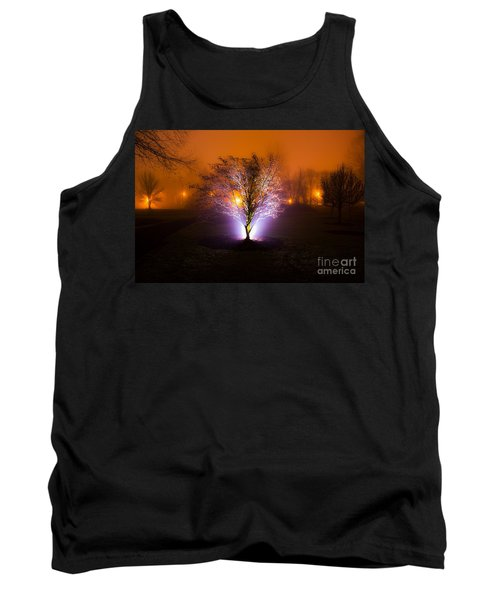 Beautiful Foggy Night 2 Tank Top by Michael Cross