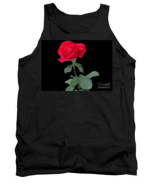Beautiful Red Rose Tank Top by Janette Boyd