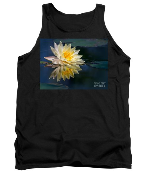 Beautiful Water Lily Reflection Tank Top