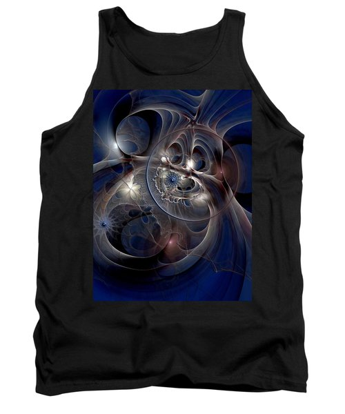 Tank Top featuring the digital art Beguiled At Twilight by Casey Kotas