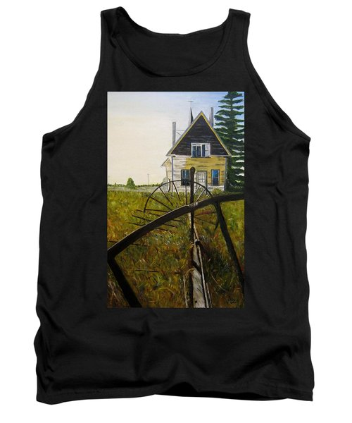 Tank Top featuring the painting Behind The Old Church by Marilyn  McNish