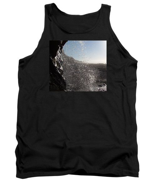 Behind The Waterfall Tank Top by Richard Brookes