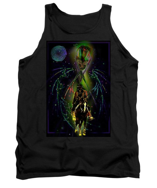 Tank Top featuring the digital art Behold The Pale Rider  by Hartmut Jager