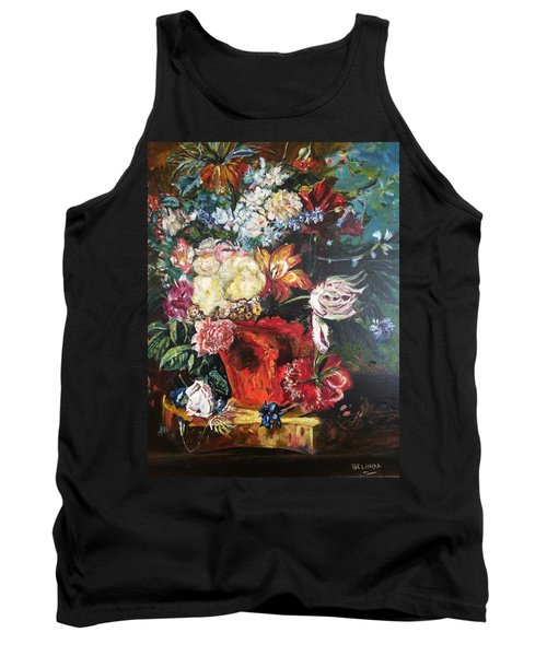 Life Is A Bouquet Of Flowers  Tank Top by Belinda Low