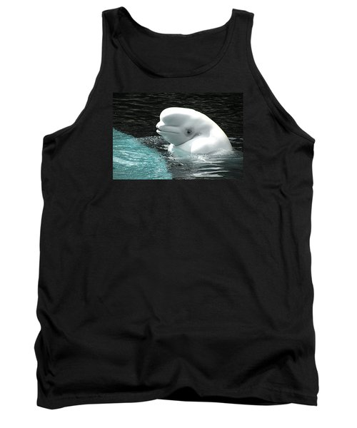 Beluga Whale Tank Top by Brian Chase