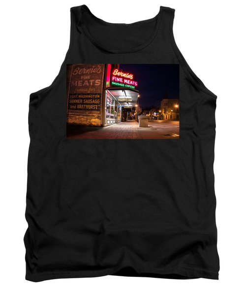 Bernies Fine Meats Signage Tank Top by James  Meyer