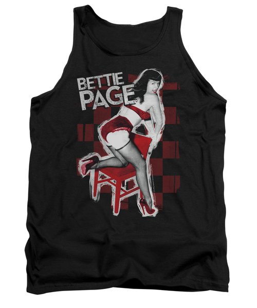 Bettie Page - Over A Chair Tank Top