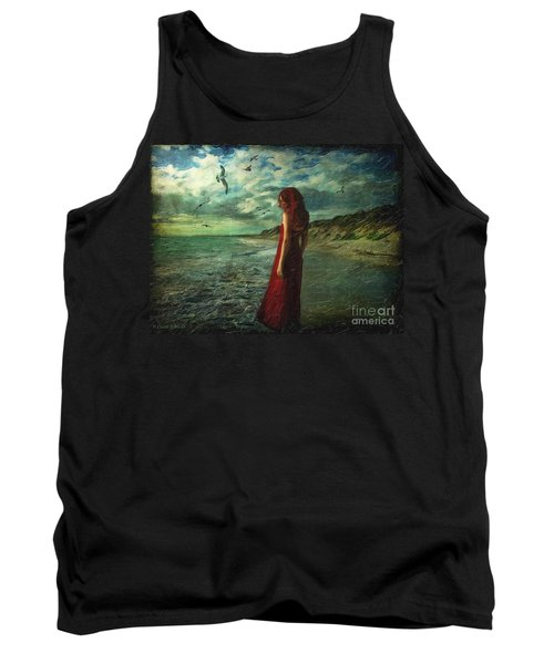 Between Sea And Shore Tank Top by Lianne Schneider