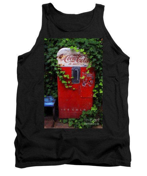 Austin Texas - Coca Cola Vending Machine - Luther Fine Art Tank Top by Luther Fine Art