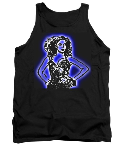 Beyonce Radiant And Glowing Tank Top by Tommy Midyette
