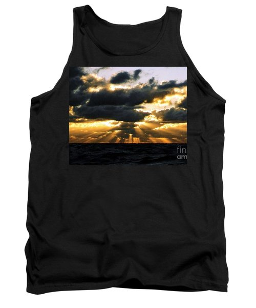 Tank Top featuring the photograph Crespuscular Biblical Rays At Dusk In The Gulf Of Mexico by Michael Hoard
