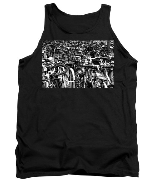 Tank Top featuring the photograph Sea Of Bicycles- Karlsruhe Germany by Joey Agbayani