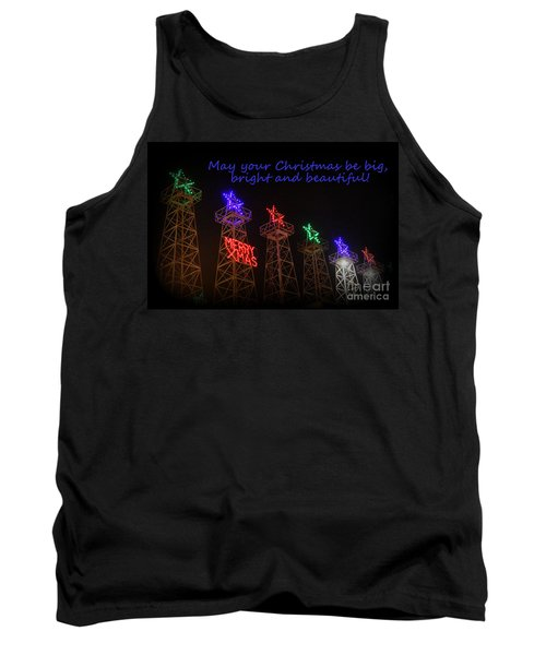 Big Bright Christmas Greeting  Tank Top