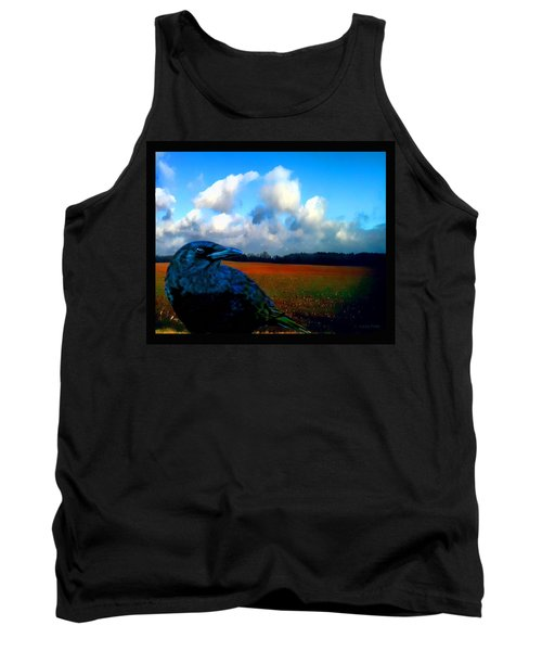 Big Daddy Crow Series Silent Watcher Tank Top by Lesa Fine