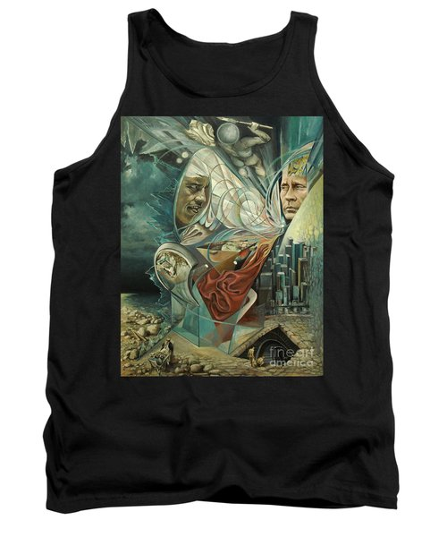 Tank Top featuring the painting Big Game Or Silence Is Gold by Mikhail Savchenko